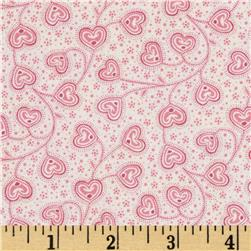 Little Sweethearts Tossed Swirl Hearts Cream/Pink