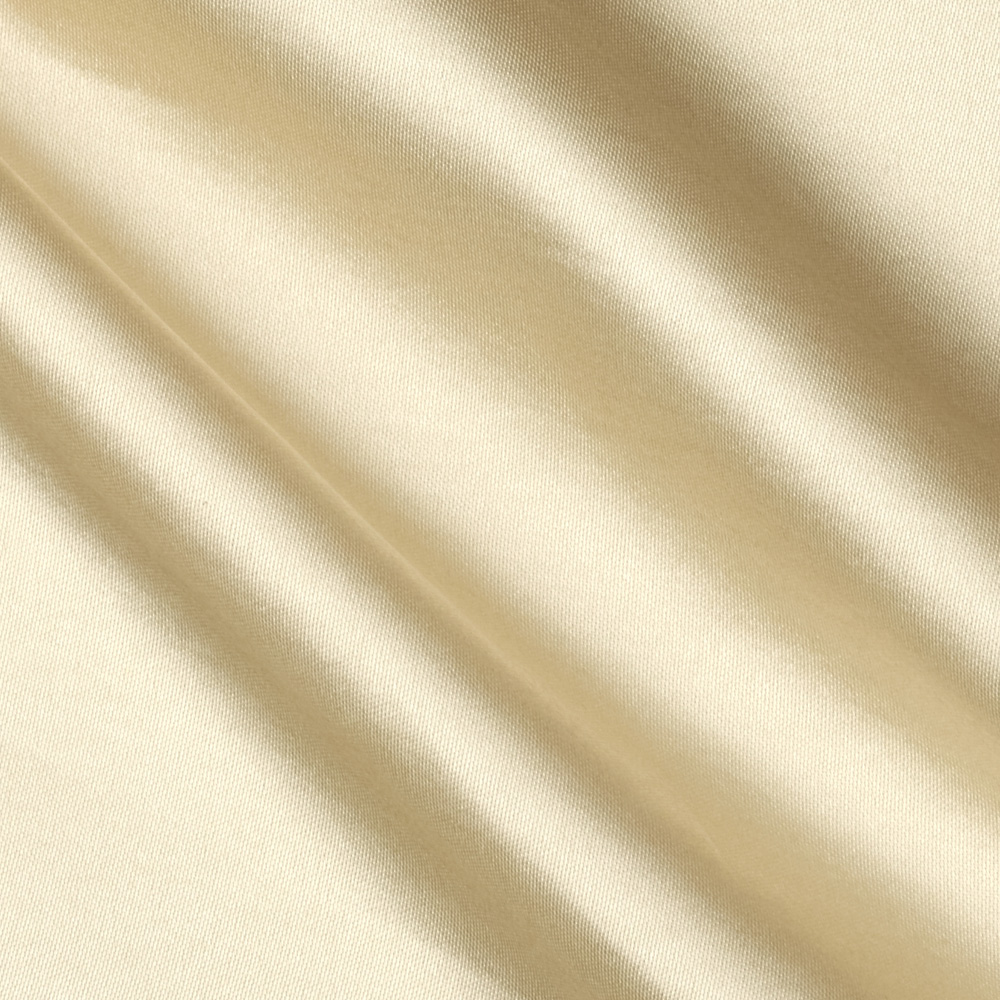 Poly Charmeuse Satin Champagne Fabric by Richland in USA