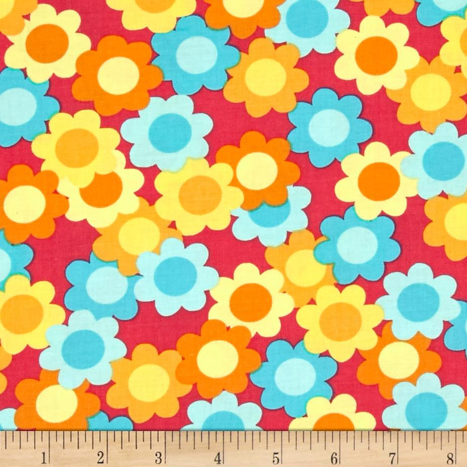 Dots Right Flowers Yellow/Blue/Orange