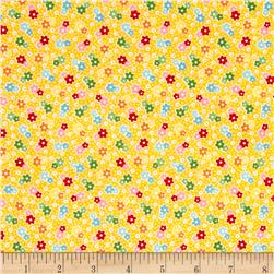 Riley Blake Backyard Roses Floral Yellow