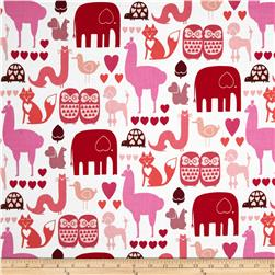 Alexander Henry Love, Luck and Liberty I *heart* Animals Tonal Pink