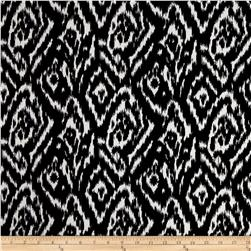 Stretch ITY Knit Ikat Diamond Black/White