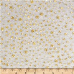 Glitter Dots Tulle White/Gold