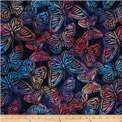 Artisan Batiks Wildlife Sanctuary Butterflies Blue