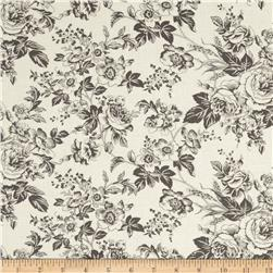 Quartette Collection Large Floral Cream/Grey