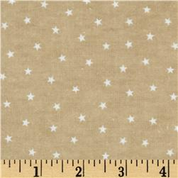 Bears and Buddies Flannel Stars Tan