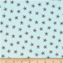 Teddy Bear Basics Small Starburst Light Blue/Brown Fabric