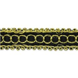 "1/2"" Novella Woven Braid Trim Roll Black"