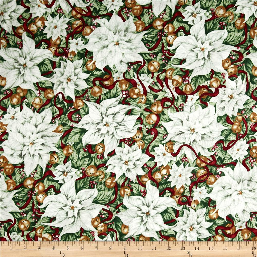 Christmas In Bloom Poinsettias White