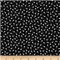 Kaufman Tiny Happy Lucky Stars Metallic Black