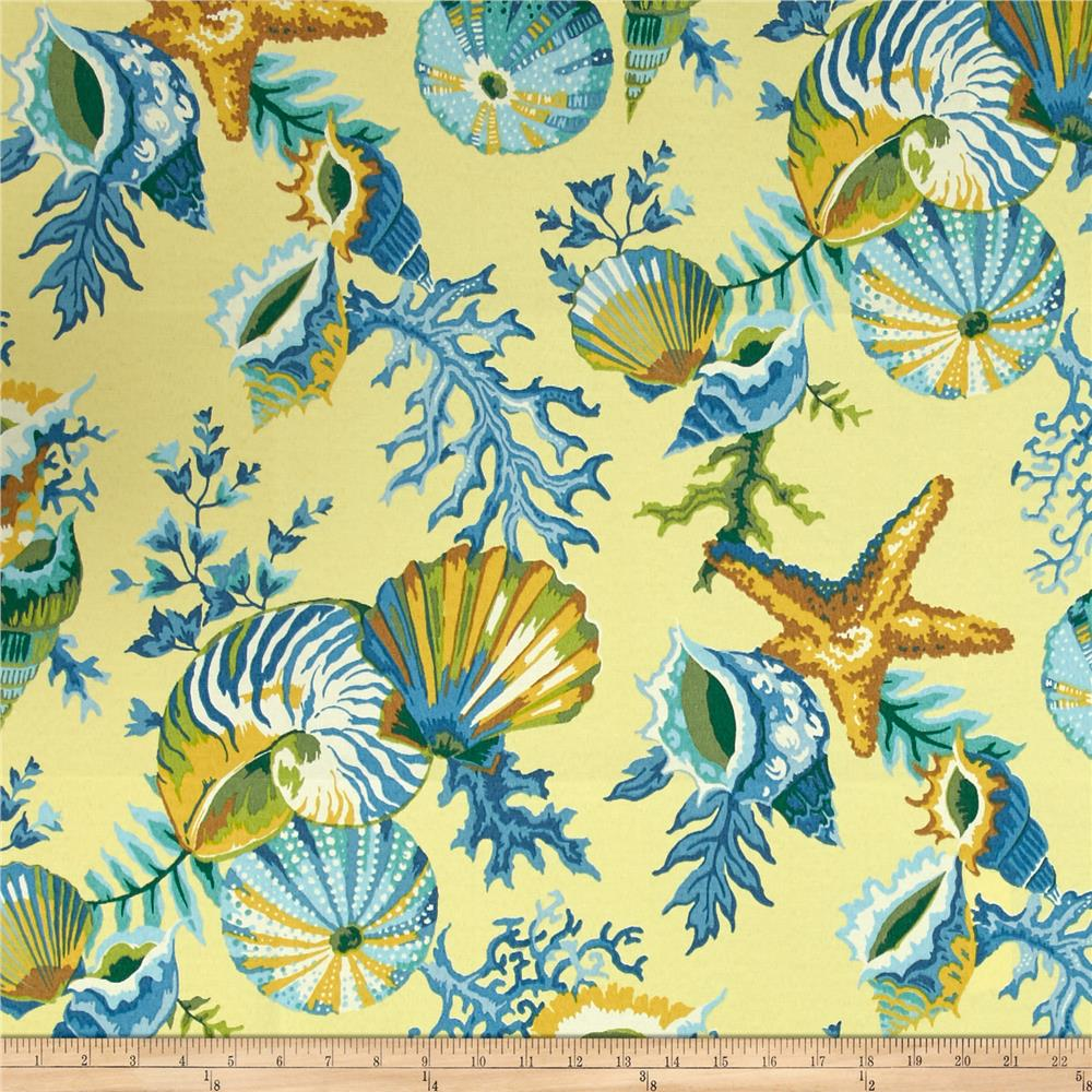 Blue And Yellow Home Decor Fabric
