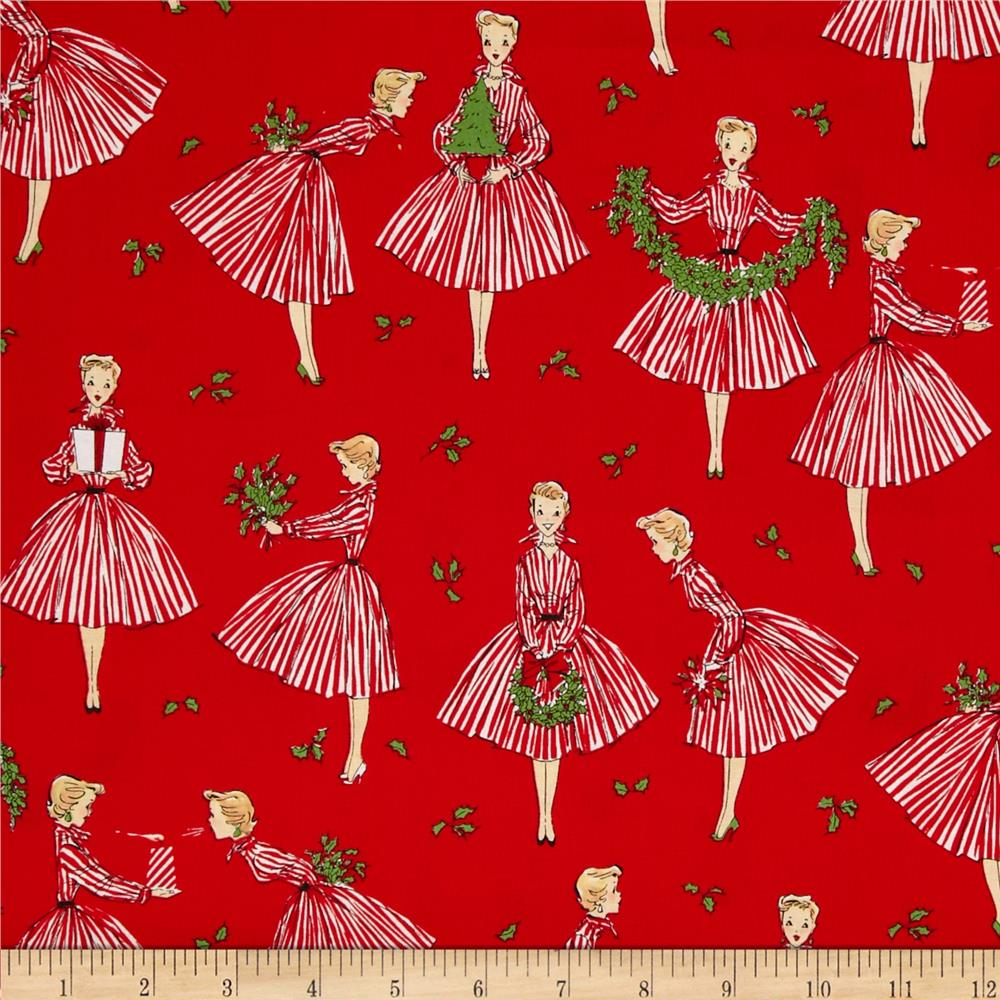Michael Miller Holiday Holiday Hostess Red