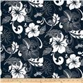 Road To Haleiwa Bright Florals Abstract Navy
