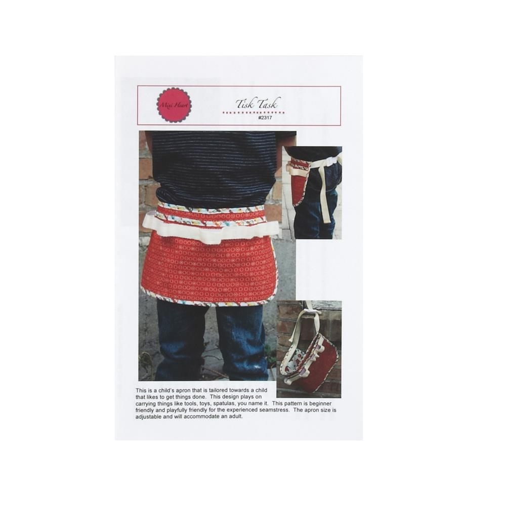 Mixi Heart Tisk Task Child Apron Pattern