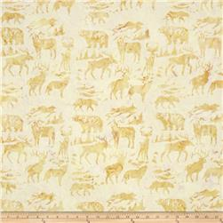 Island Batik Woodland Animals Tan