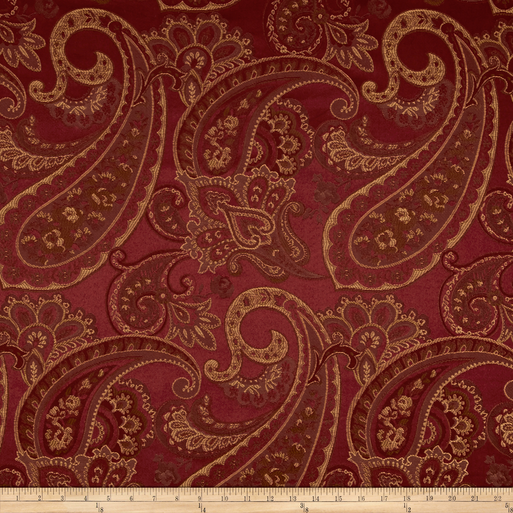 Eroica Candytuft Jacquard Merlot Fabric by Eroica in USA