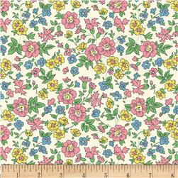 60'' Wide Quilt Backs Flower Garden Pink
