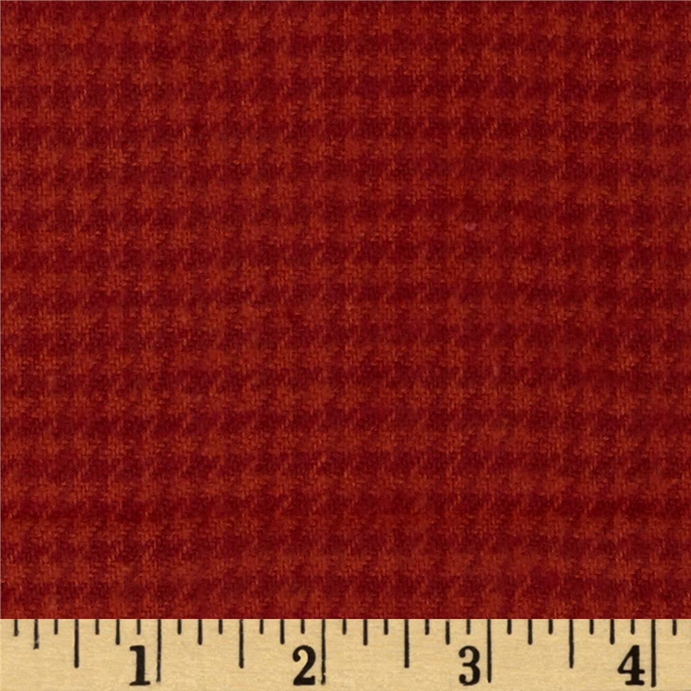 Cozy Yarn Dye Flannel Mini Houndstooth Red