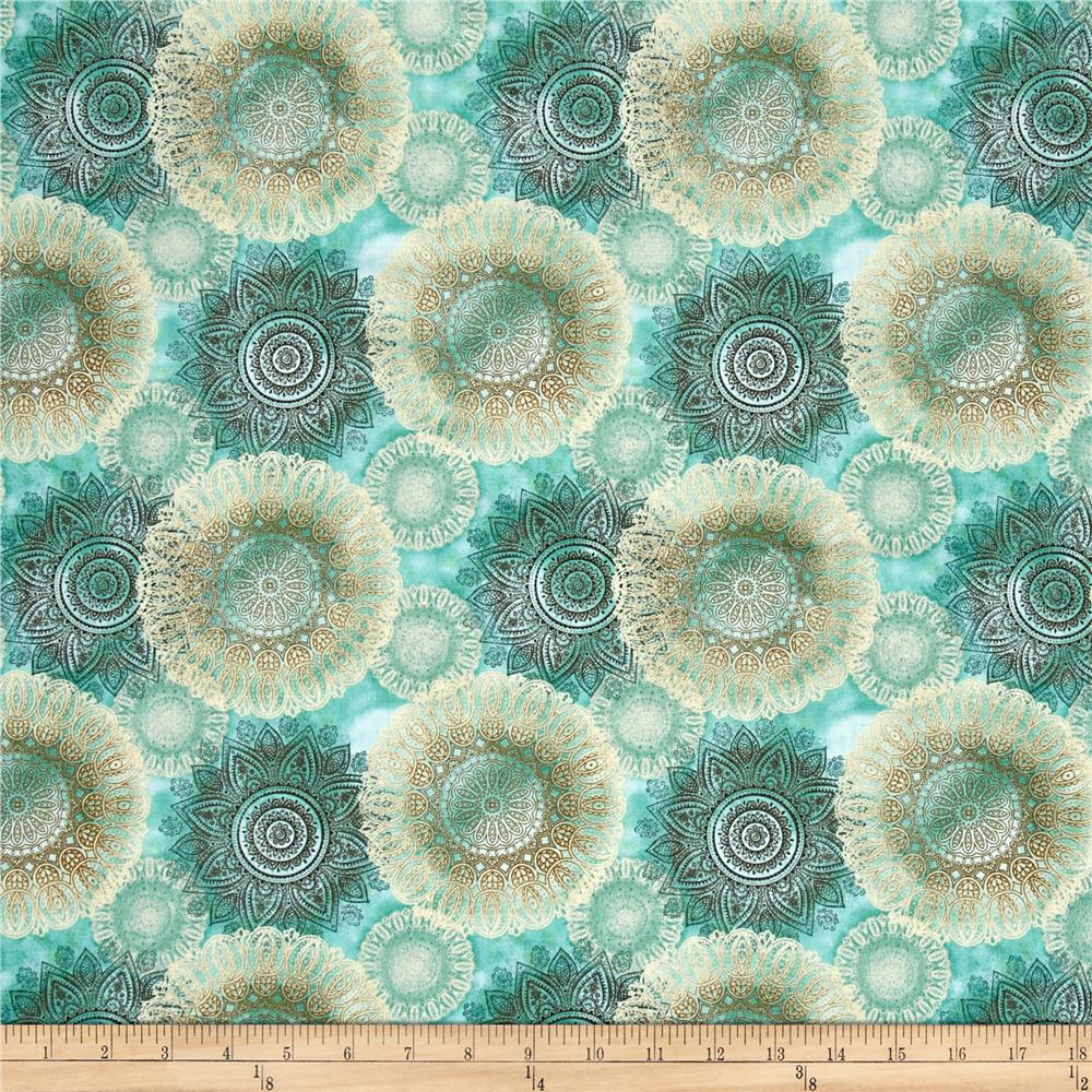 Arabesque Floating Medallions Teal