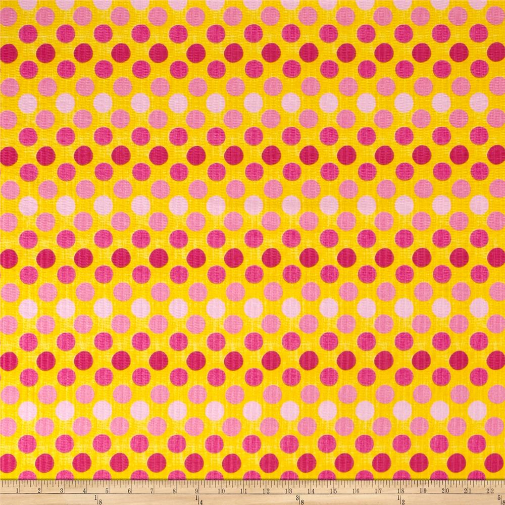 Tutti Fruitti Plisse Polka Dot Yellow