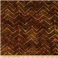 Timeless Treasures Tonga Batik Nairobi Zig Zag Bronze