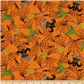 Moda Moonlight Manor Witch's Wear Pumpkin Orange