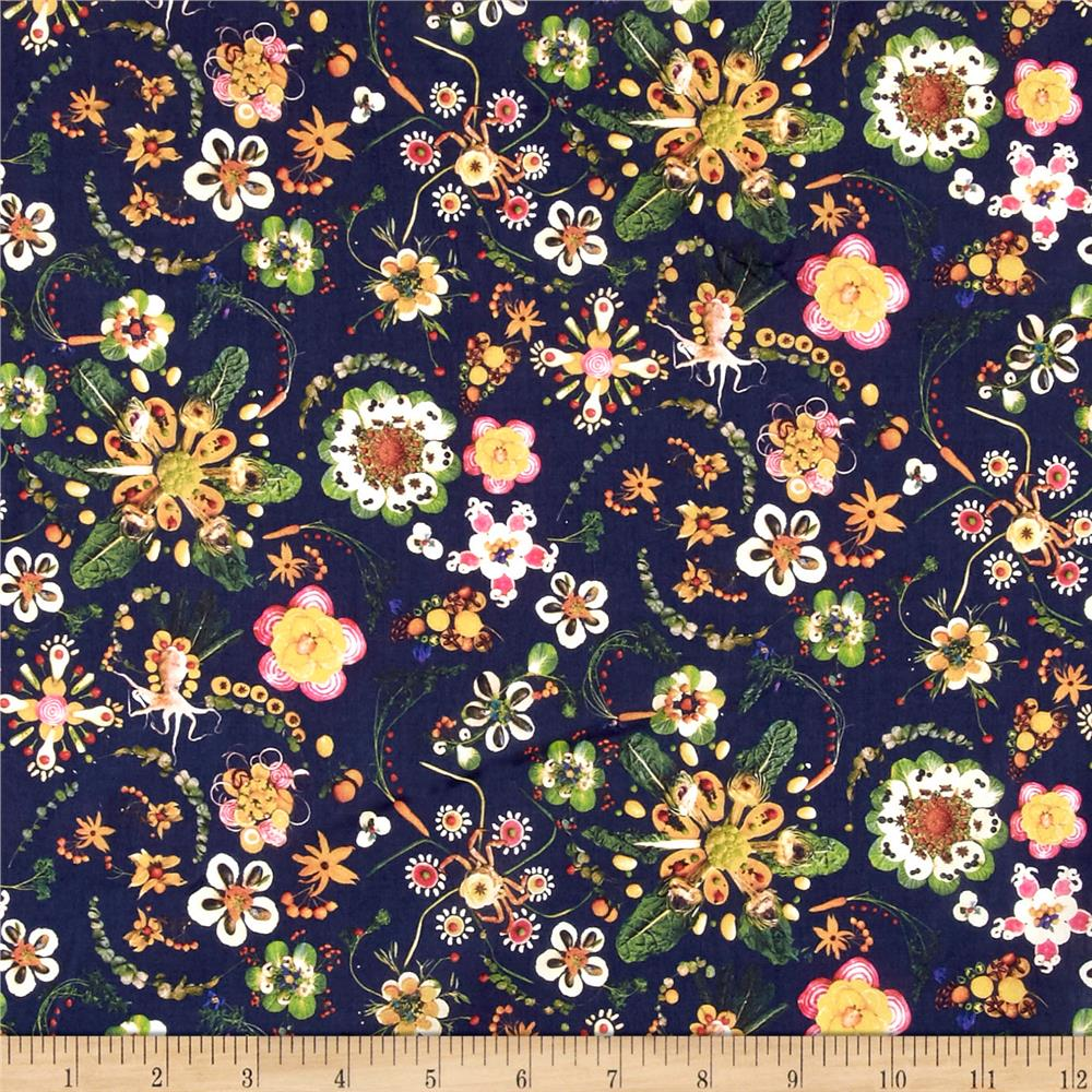 Liberty of London Tana Lawn Synchronised Dinner Navy Blue/Green