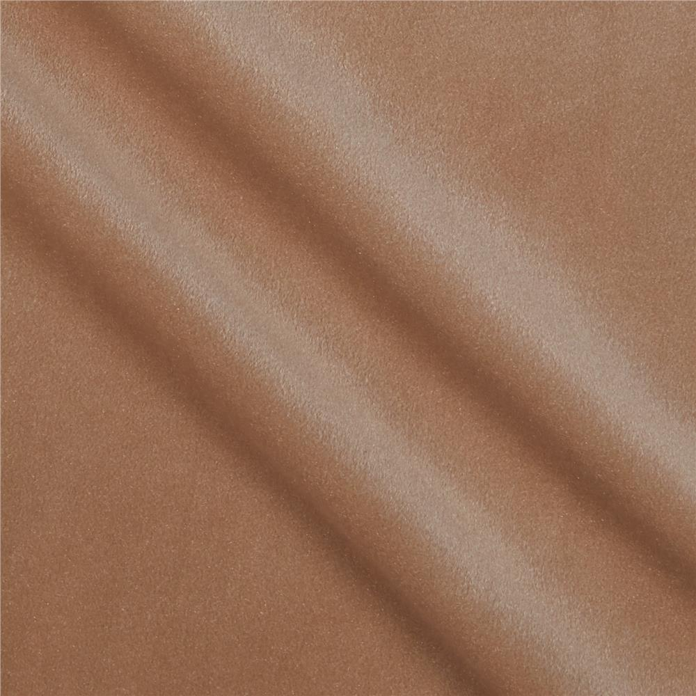 Alpine upholstery velvet tan discount designer fabric for Velvet fabric