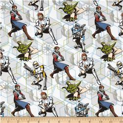 Star Wars Flannel Characters Grey