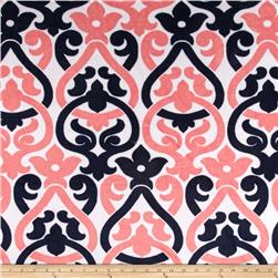 Premier Prints Mockingbird Minky Cuddle Deco Navy/Coral