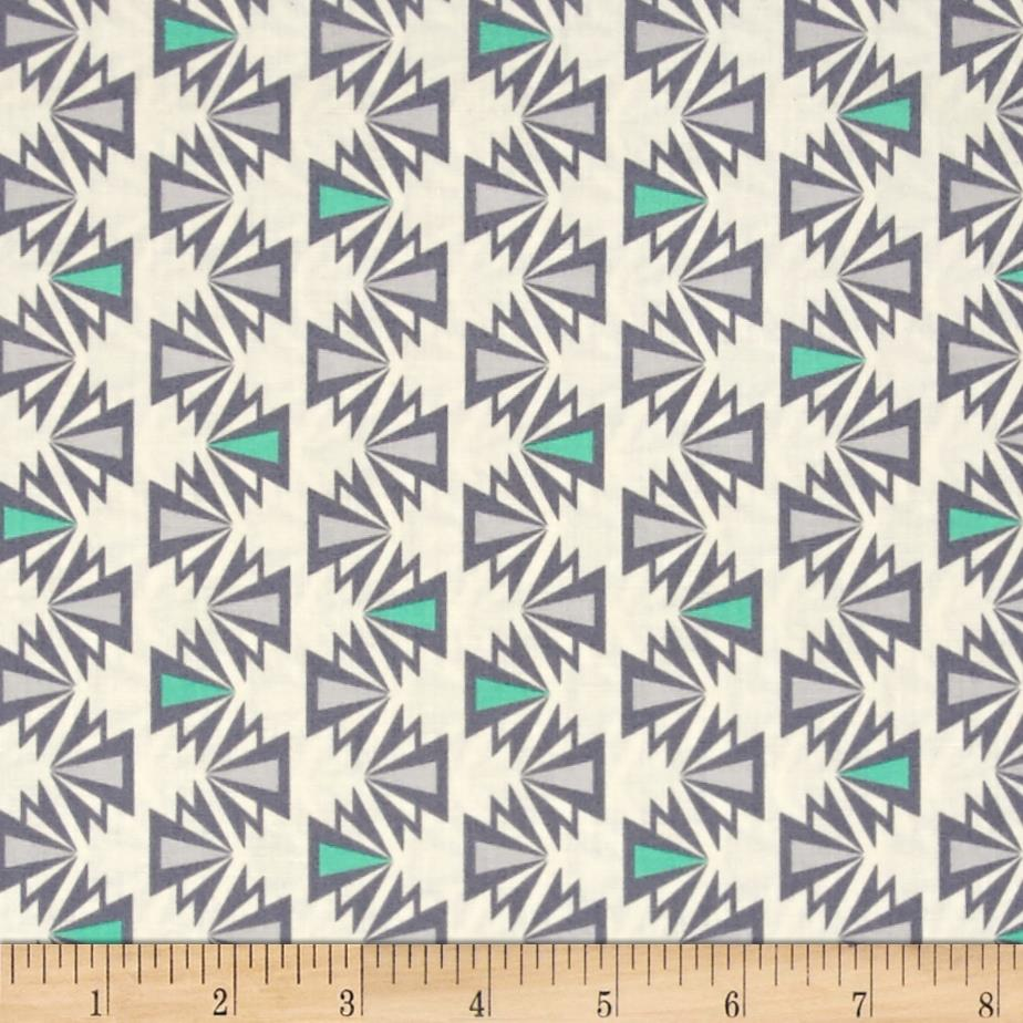 Kaufman Fragmental Aztec Stripe Park