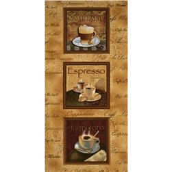 Kanvas Cafe Au Lait Coffee Panel Caramel Fabric