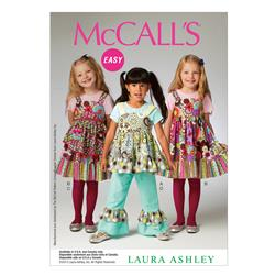 McCall's Children's/Girls' Top, Dress, Apron and Pants Pattern
