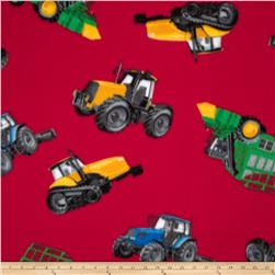 Fleece Tractors Red