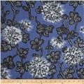 Bloom Voile Flowers Blue/Grey