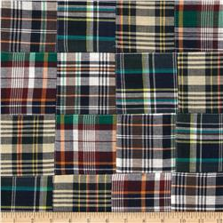 Madras Plaid Navy/White/Green