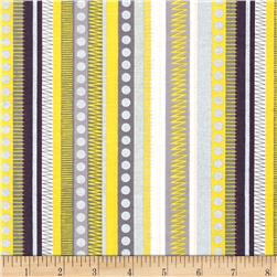 Kanvas Zest Zippy Stripe Yellow