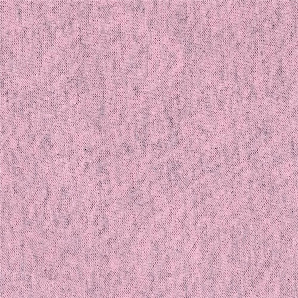 French Terry Solid Baby Pink/Grey Heather
