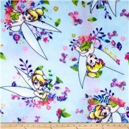 Disney Tink Fleece Blue Fabric