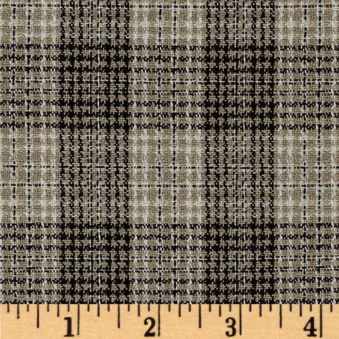 Woven Suiting Plaid Black/Tan