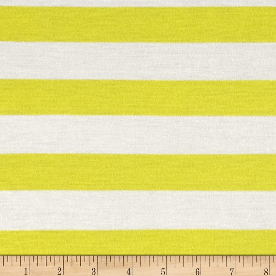 Stripe Jersey Knit Ivory/Yellow