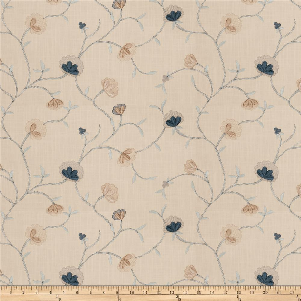 Fabricut Ajani Floral French Blue