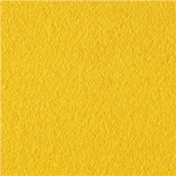 Wintry Fleece Sunshine Yellow Fabric