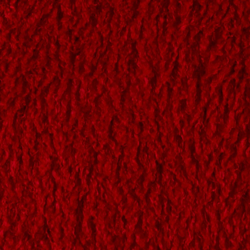 Minky Curly Llama Red Discount Designer Fabric Fabric Com
