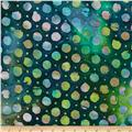 Indian Batiks Dot Green/Turquoise