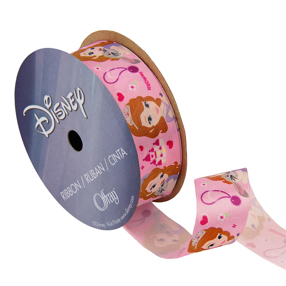 "7/8"" Sofia The First Ribbon Castle Pink"