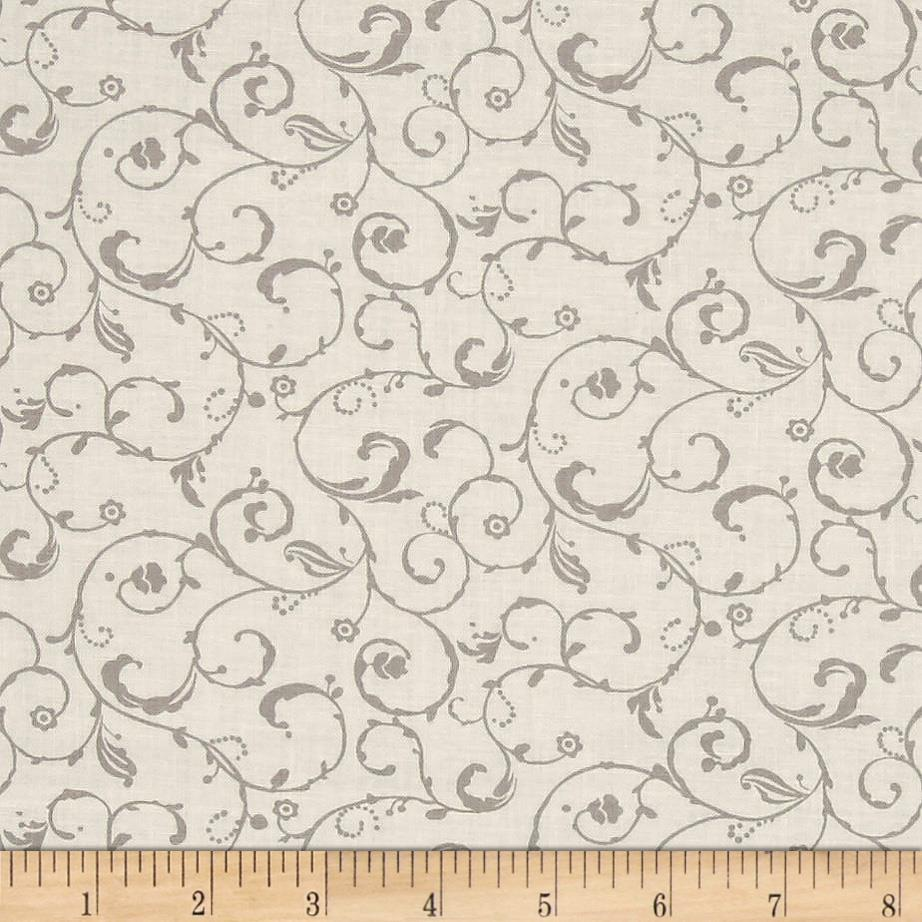 Moda Lily & Will Revisited Swirls Cream-Gray