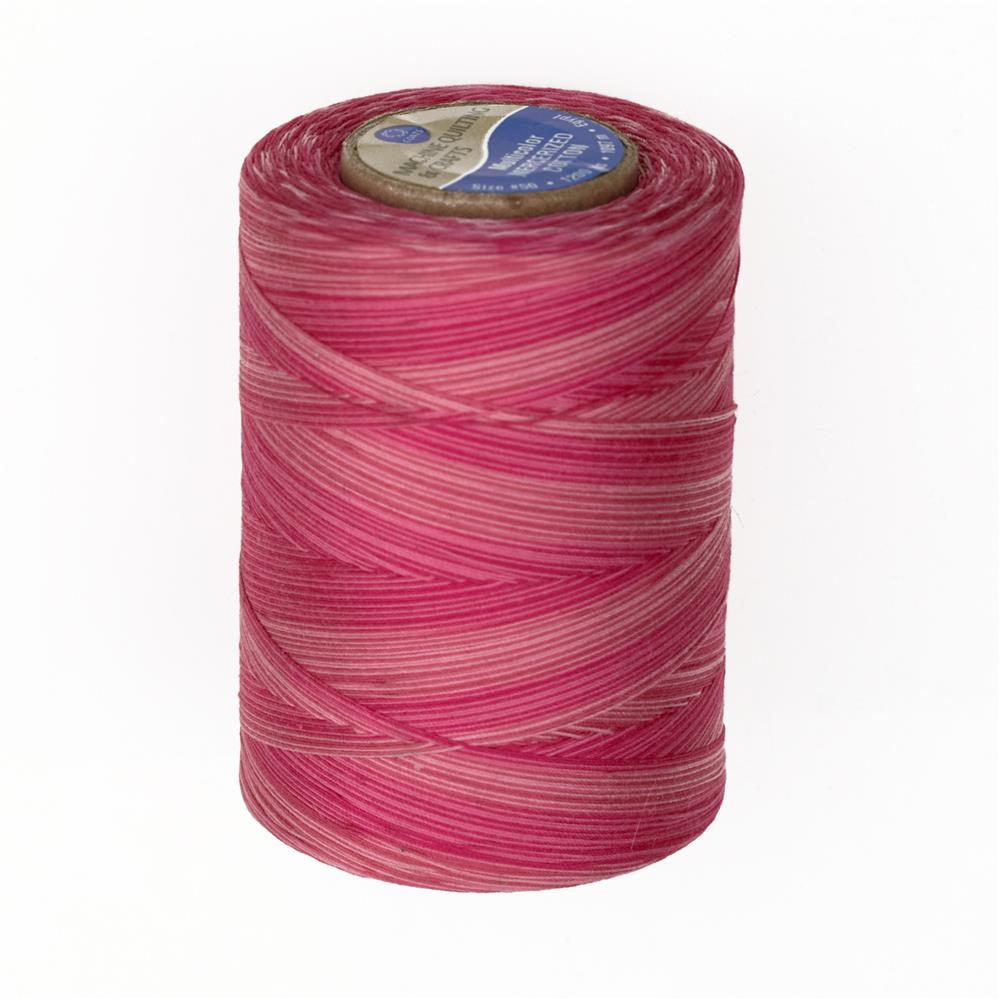 Cotton Machine Quilting Multicolor Thread 1200 YD Pink