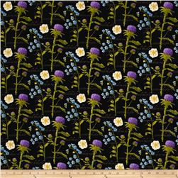 Outlander Flowers Black