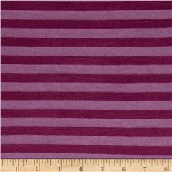 Jersey Knit Stripes Raisin/Mulberry